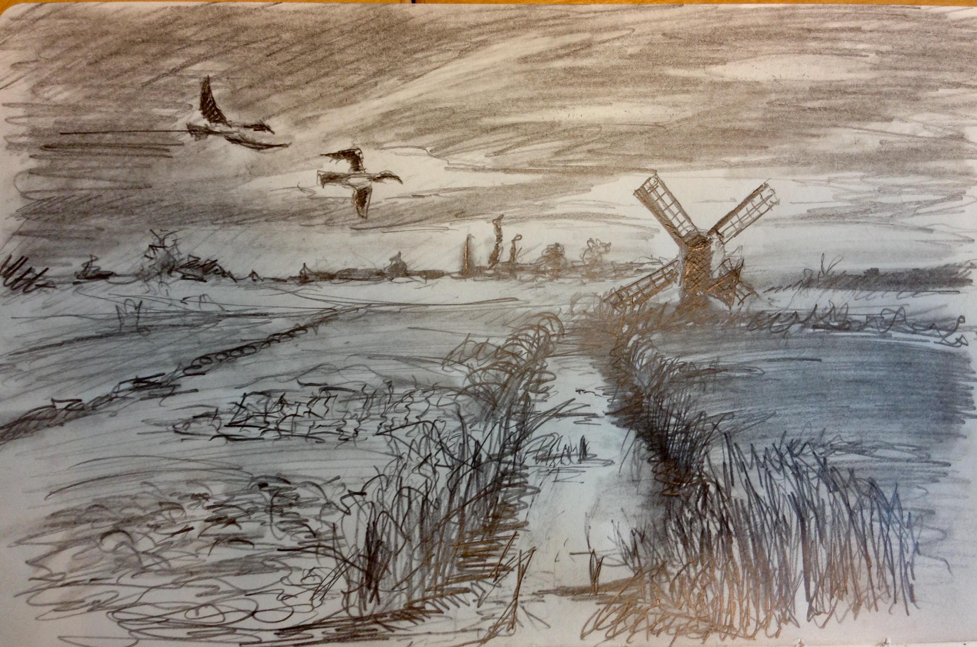 Netherlands Tonal Sketch