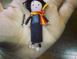 Harry Potter clothepins doll by Micettaminù