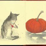 #M_Halloween16 Cat, Pumpkin