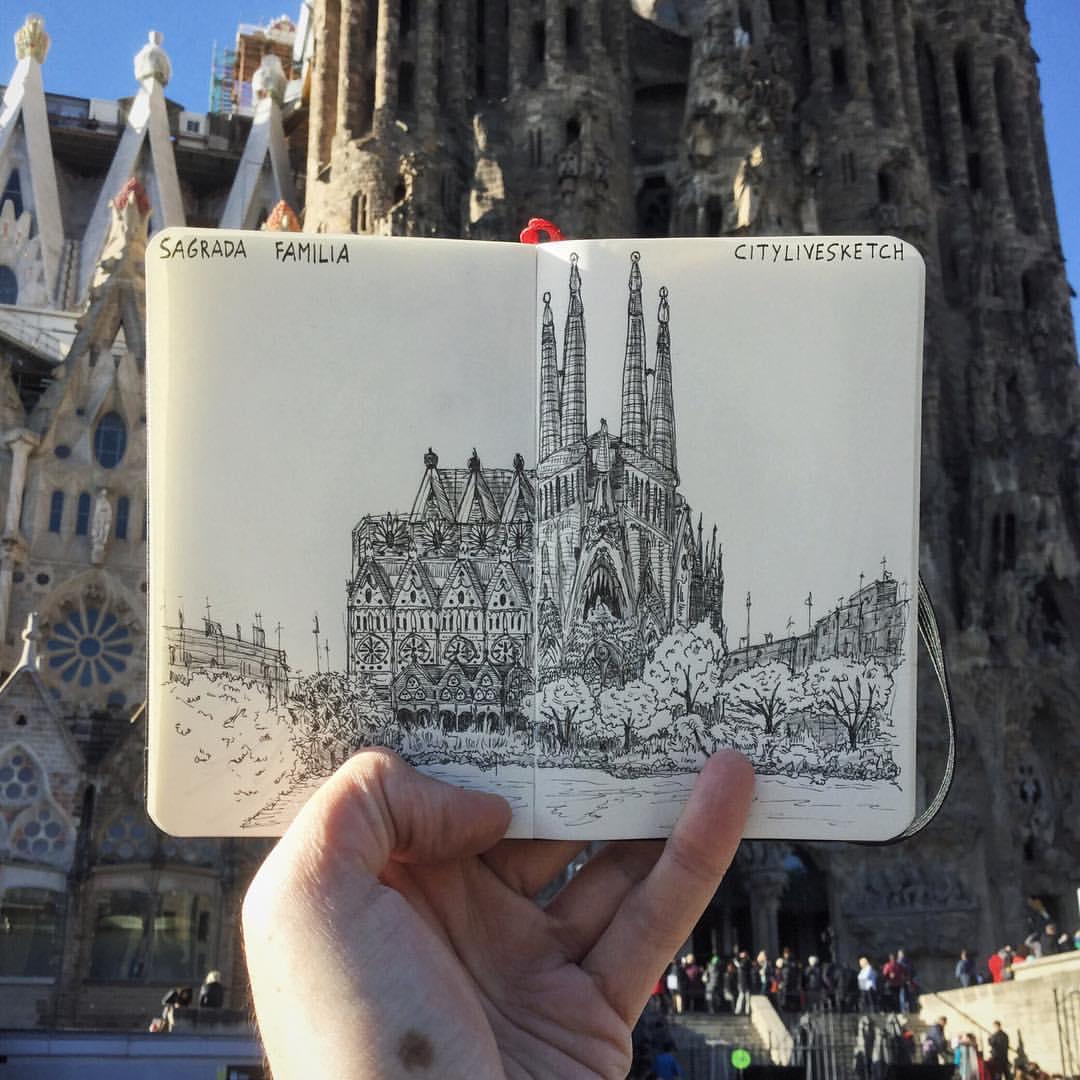 Sagrada Familia Live Sketch