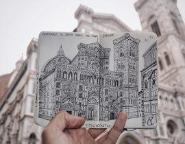 Duomo di Firenze Live Sketch
