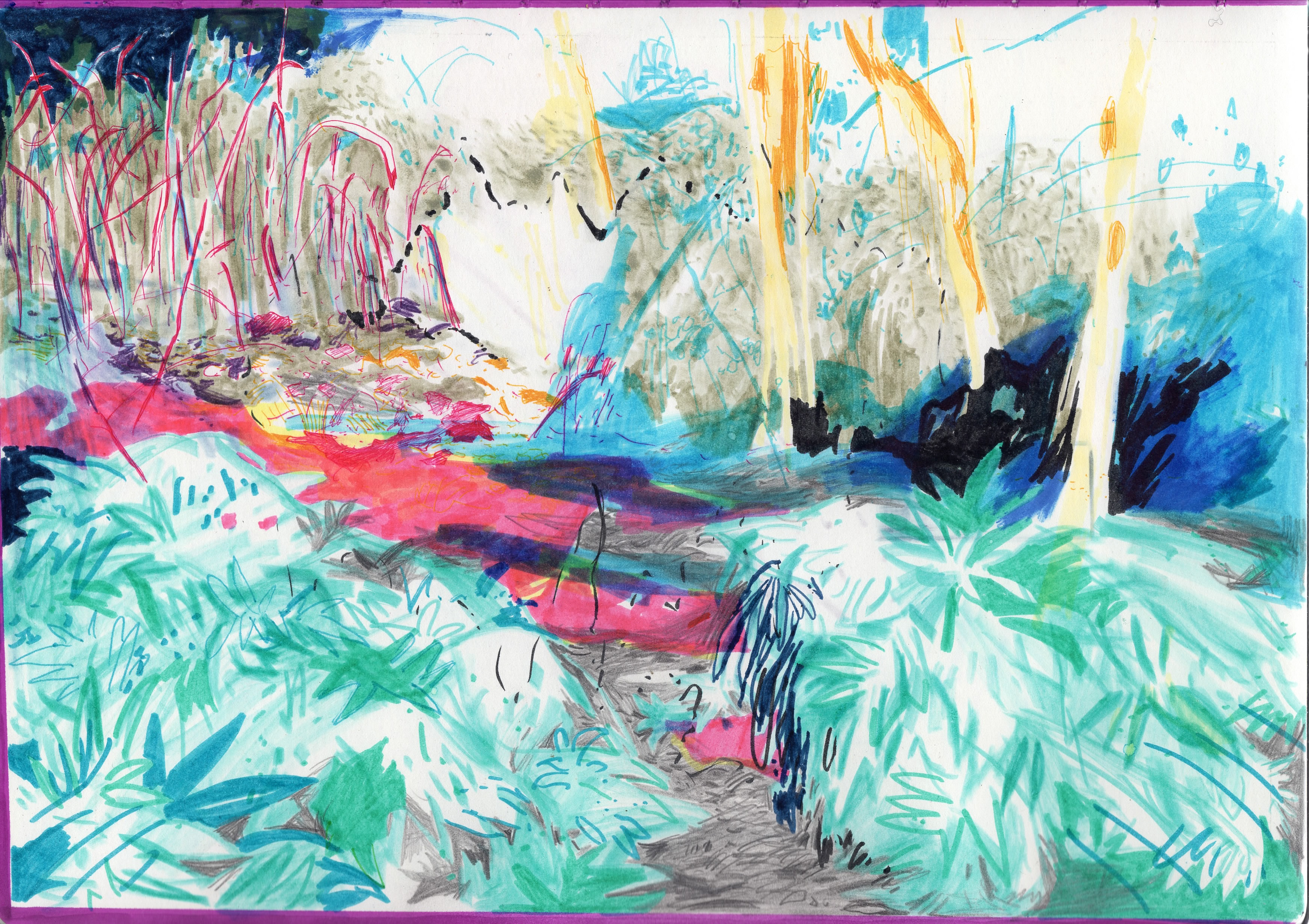 paysage dans le vent