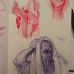 Ingres Drawing-Ballpoint pen