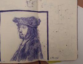 Rembrandt Etching-Skb Pen