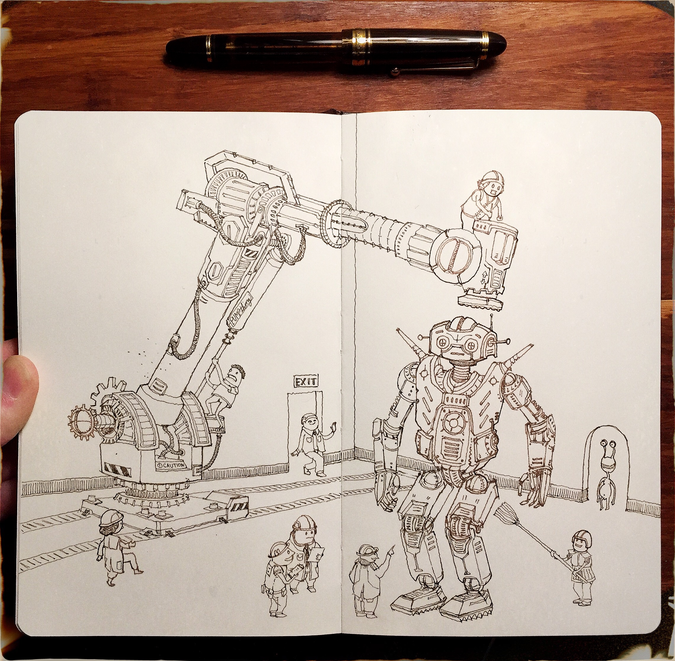 Factory Robot Sketch