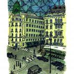 Urban Sketch – Albertinaplatz Vienna