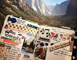 My Moleskine in Yosemite <3