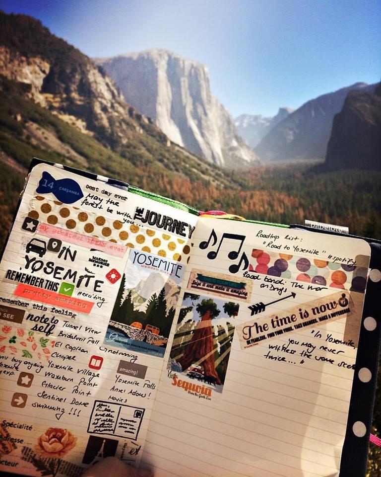 My Moleskine in Yosemite <3