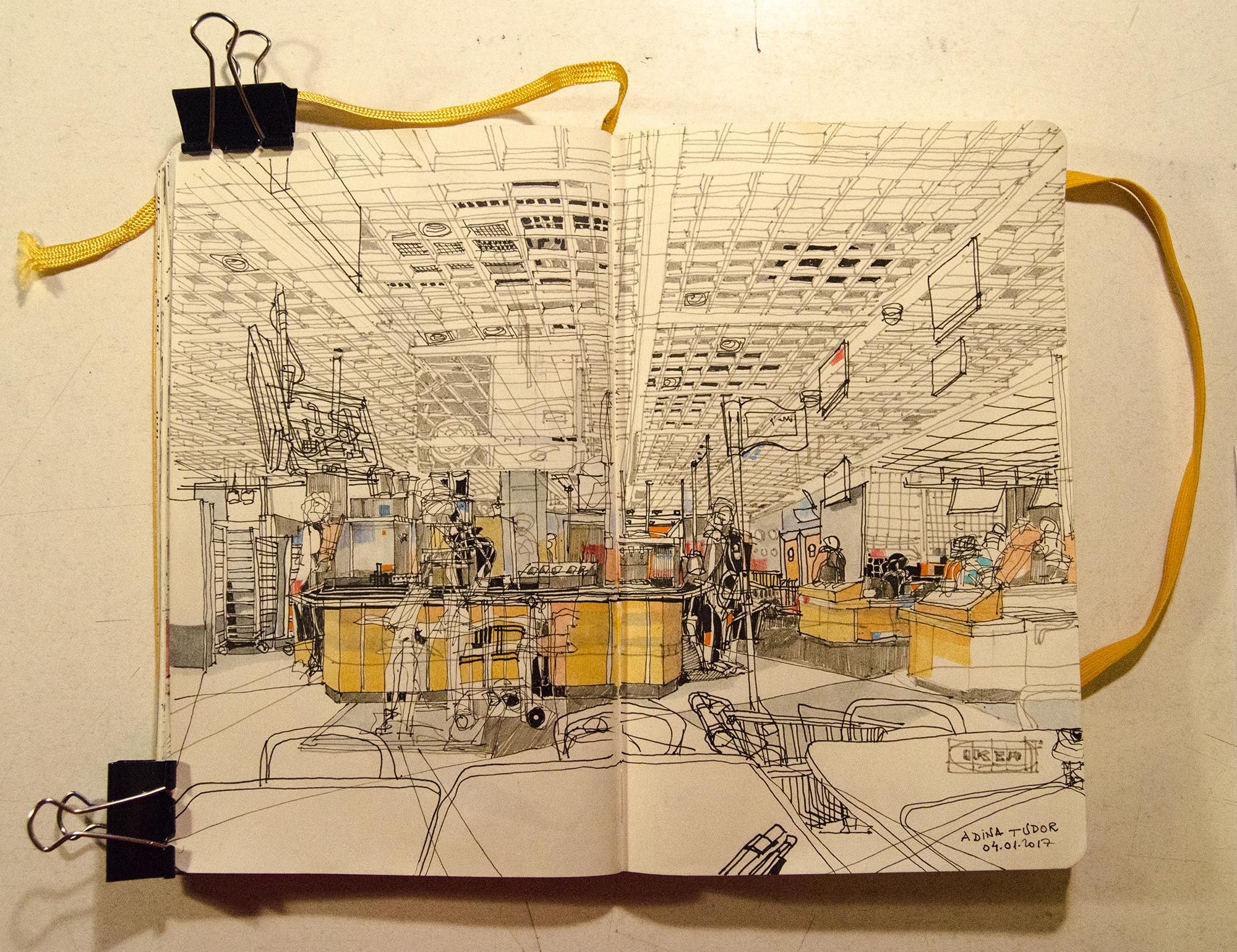 Interior Sketch At Ikea Restaurant Mymoleskine Community Electrical Wiring Diagrams