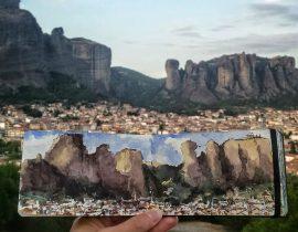 Foldable landscape in Greece
