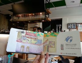 Café Sketch~ Black Cat &Moon Café,Taichung, Taiwan