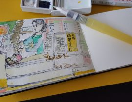 Urbansketch at Taiwan Breakfast Cafeteria