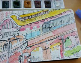 Urbansketch at Tamsui Starbucks