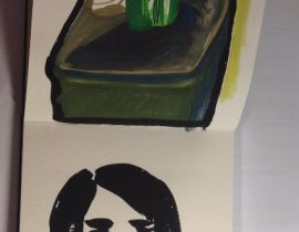 a plant&a girl
