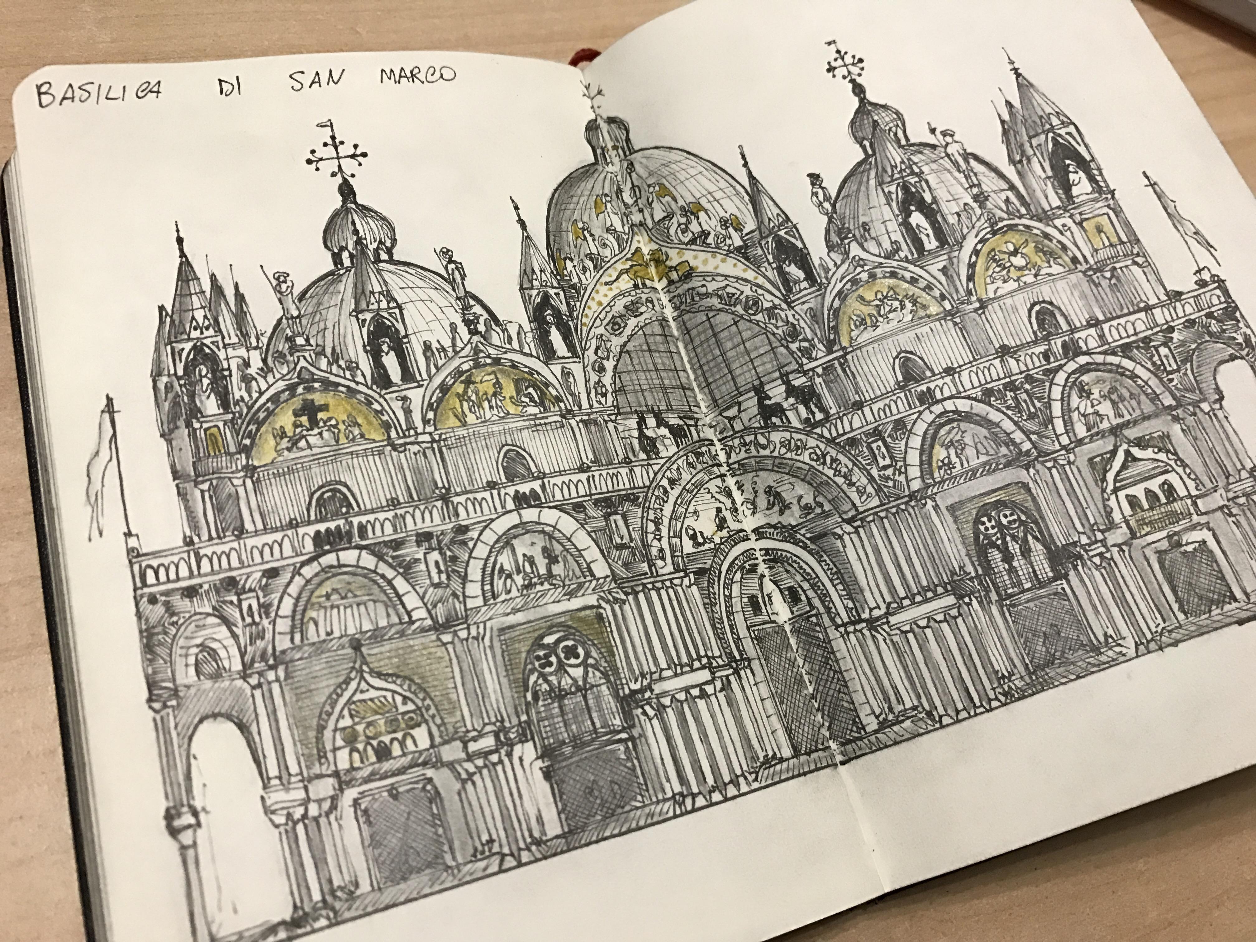 "Details of ""Basilica di San Marco Live Sketch"""