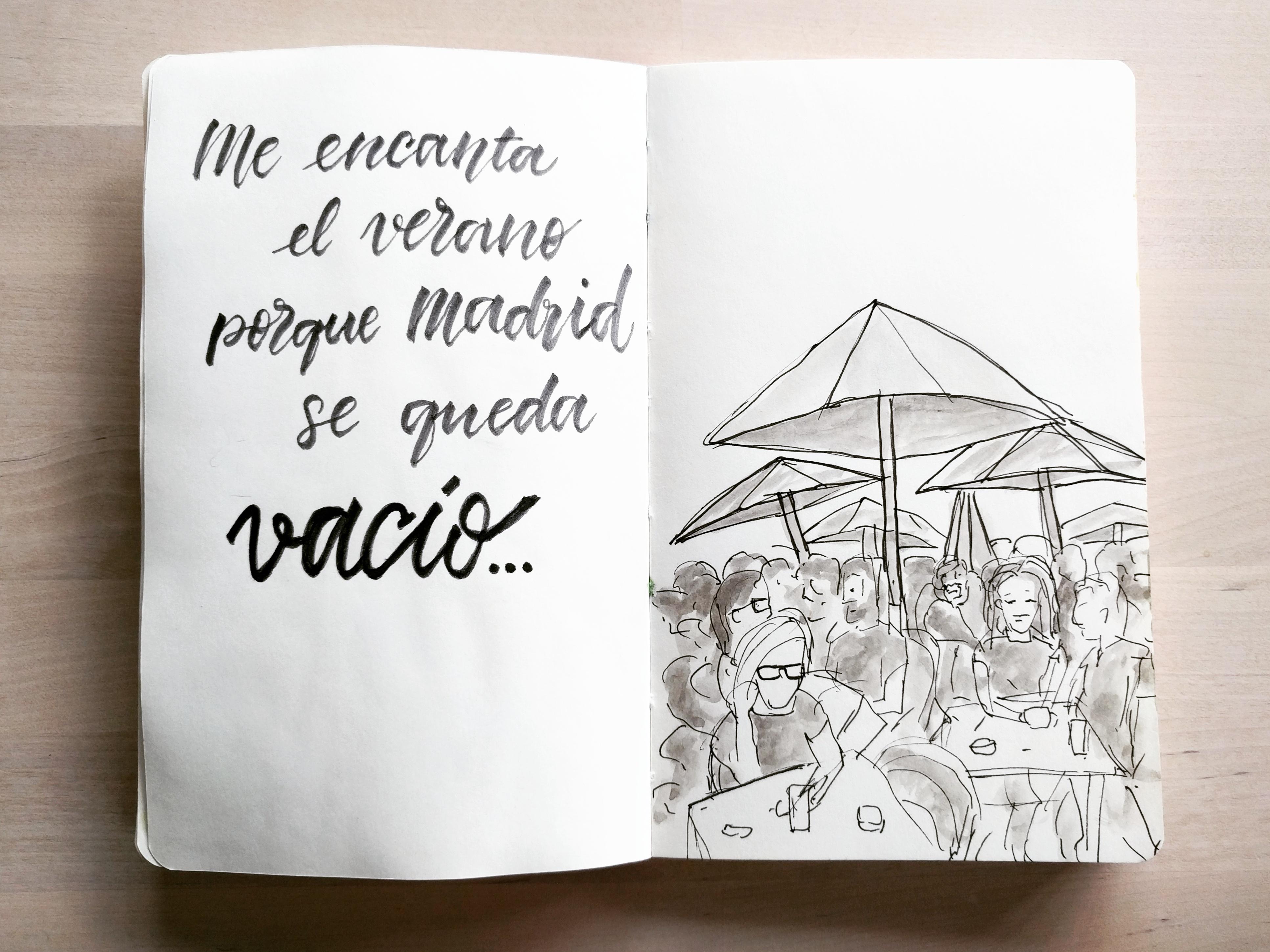Quick sketch at Plaza de la Paja, Madrid