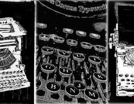 typewriter triptych
