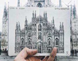 Duomo di Milano Live Sketch