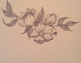 Late Night Flower Drawing.