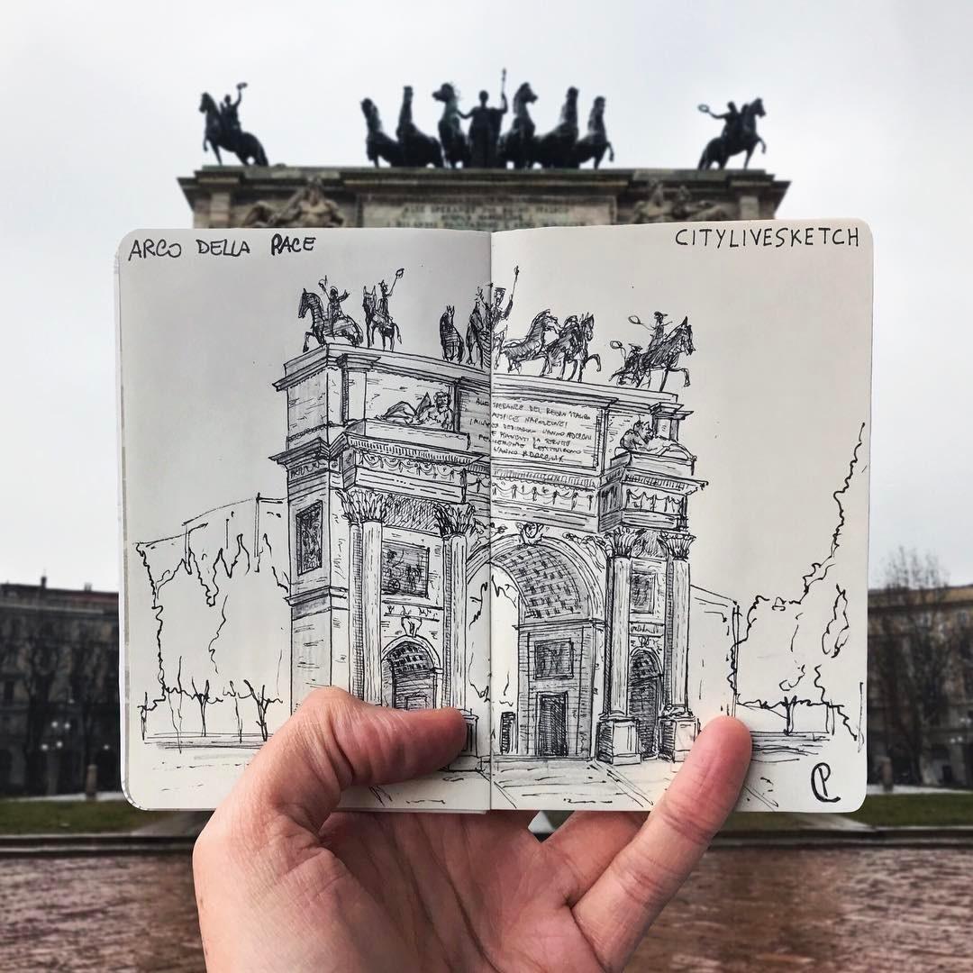 Arco della Pace Live Sketch