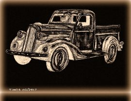 old cars triptych