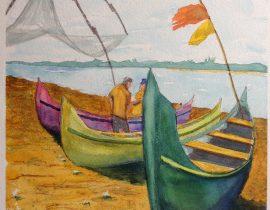 3 Fishing Boats, India