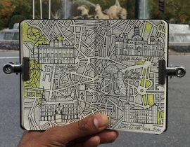 City Map Drawing of Madrid, Spain