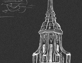 steeple in Madrid