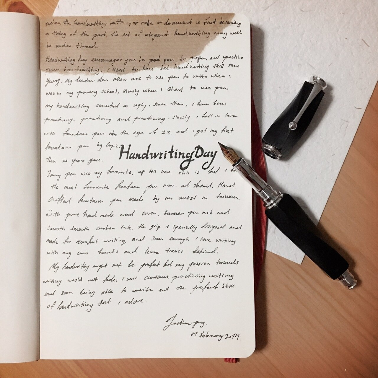 My Confession to Handwriting