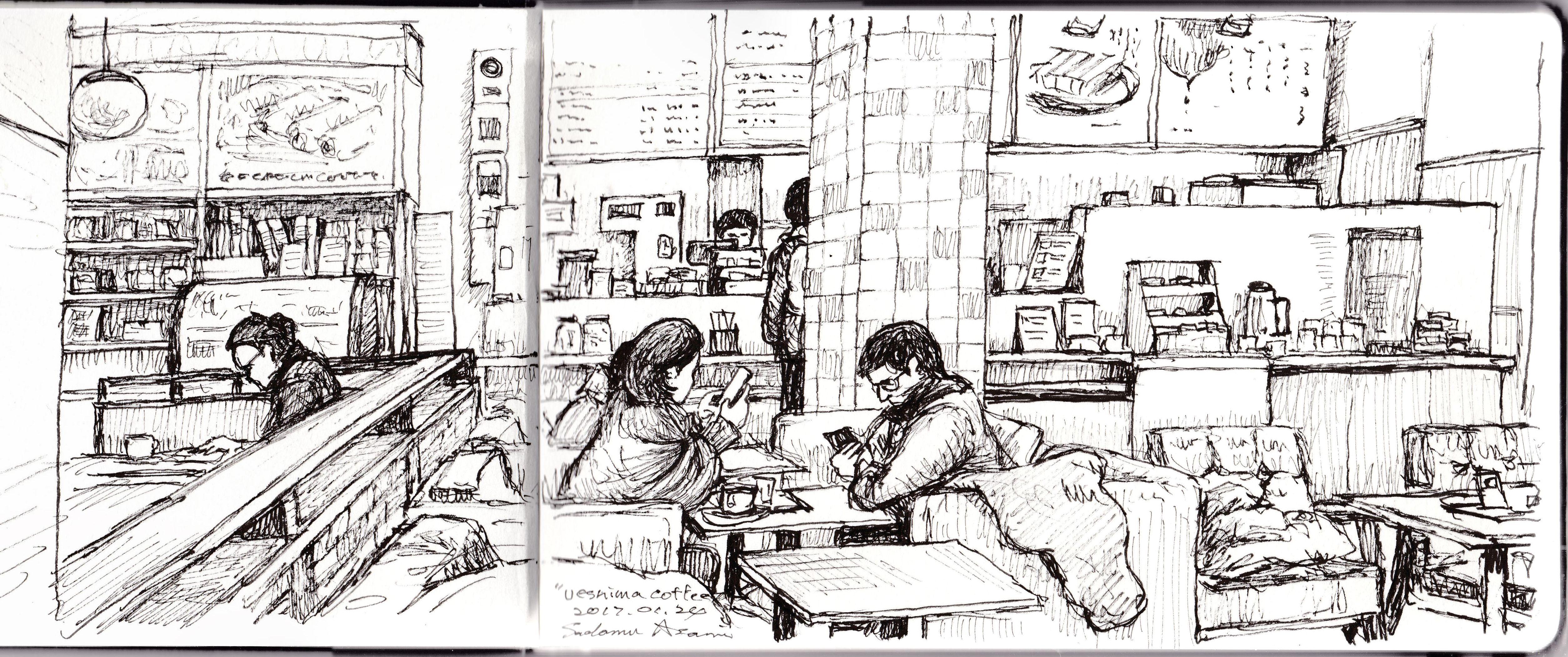 cafe sketch no.1