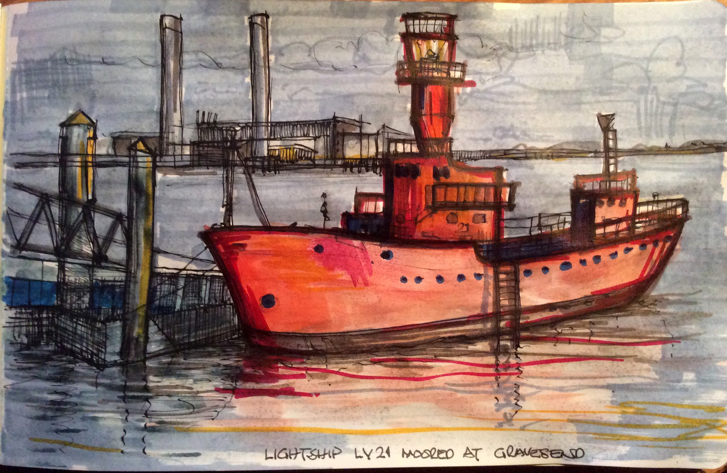 The Lightship LV21 moored at Gravesend