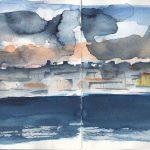Cloudy sky Lisbon
