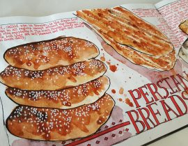 Persian Breads : Baked to golden perfection!