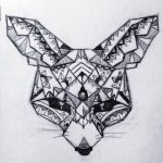 Geometric Fennec Fox