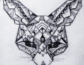 Geometric Fennec Fox