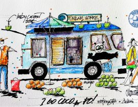 Food Truck, DreamWorks Plaza, Motiongate Theme Park, Dubai
