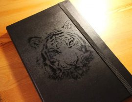 Cutout Picture TIGER notebook