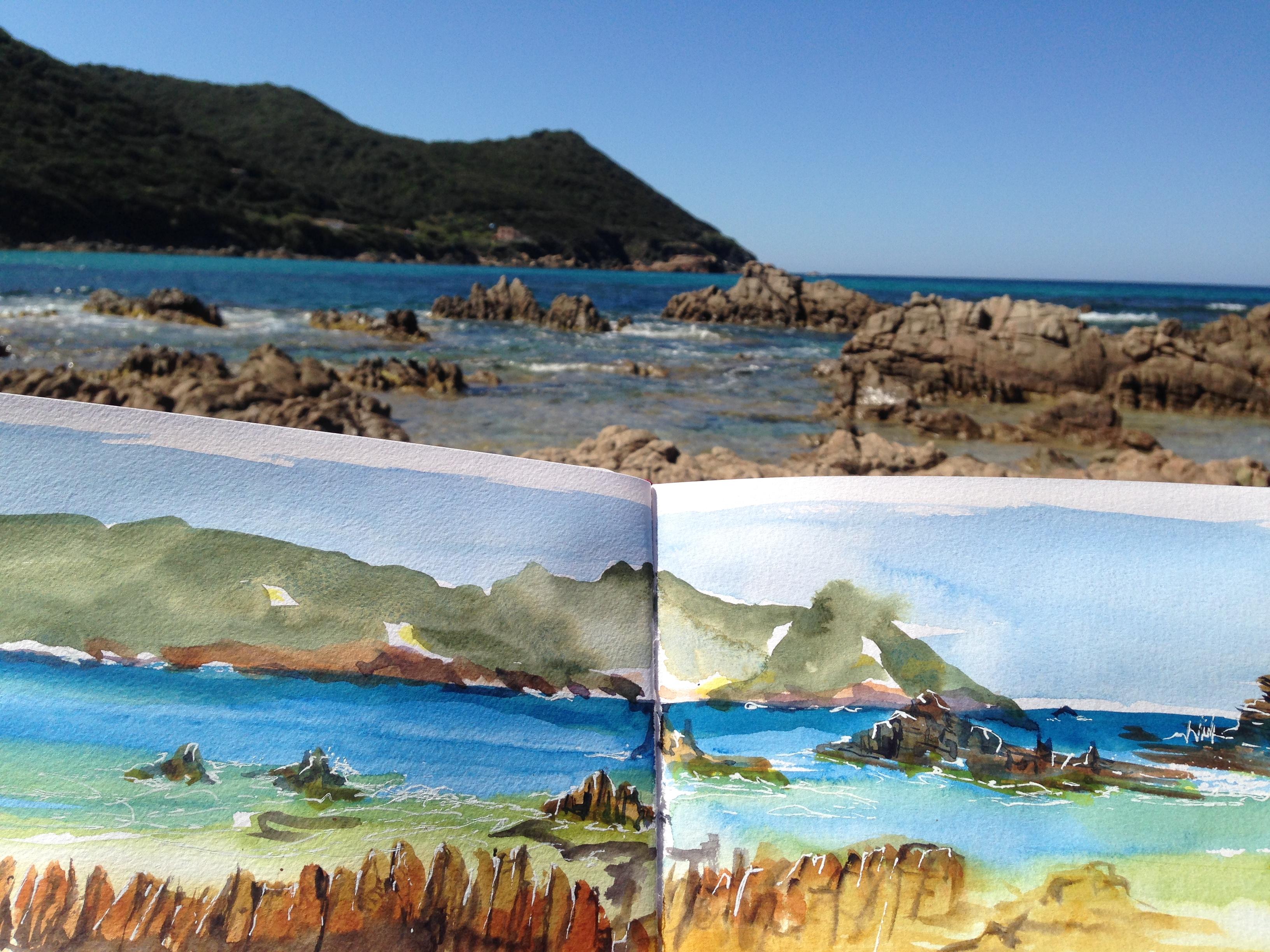 Colorful Corsica beach