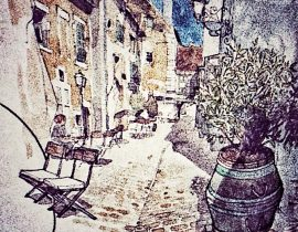 Olive tree pot, Sicily
