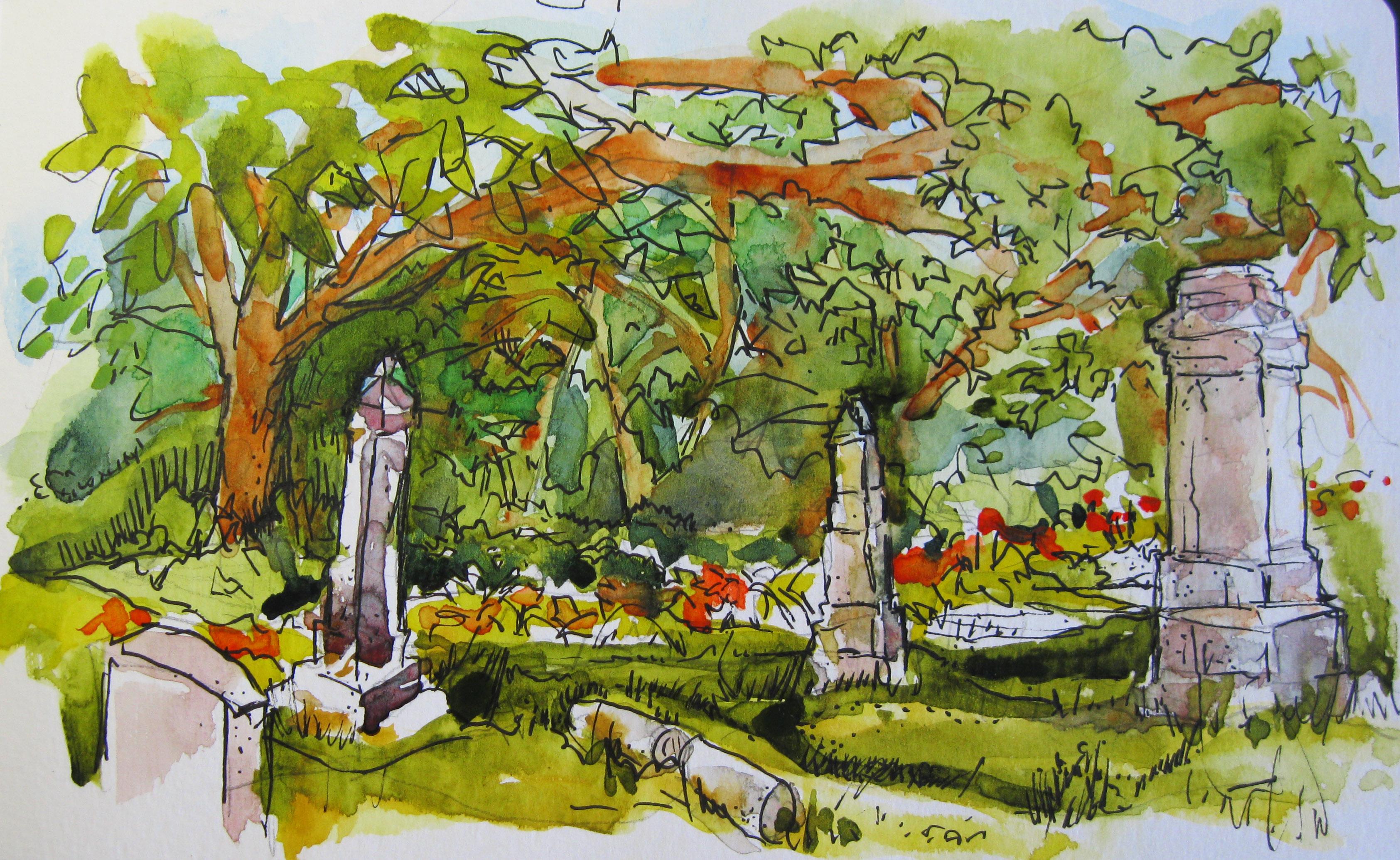 Plein Aire St. George Cemetery, Kenosha, WI