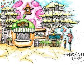 Smurf's Snack Hut, Motiongate Theme Park, Dubai