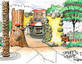 Smurf's Village, Motiongate Theme Park, Dubai