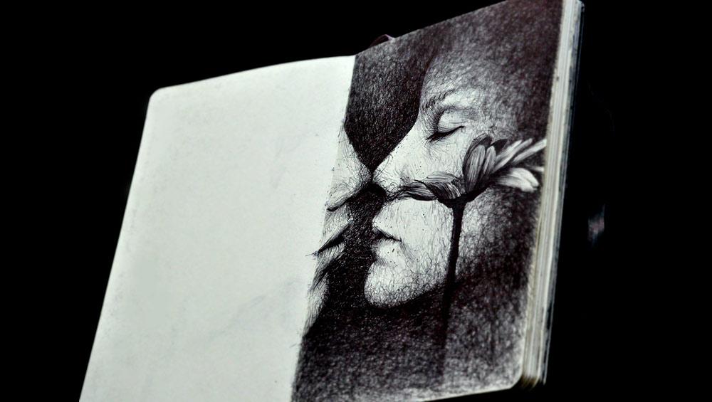 Kiss portrait