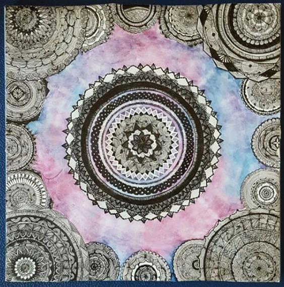 Galaxy + Mandala = My favorite combination