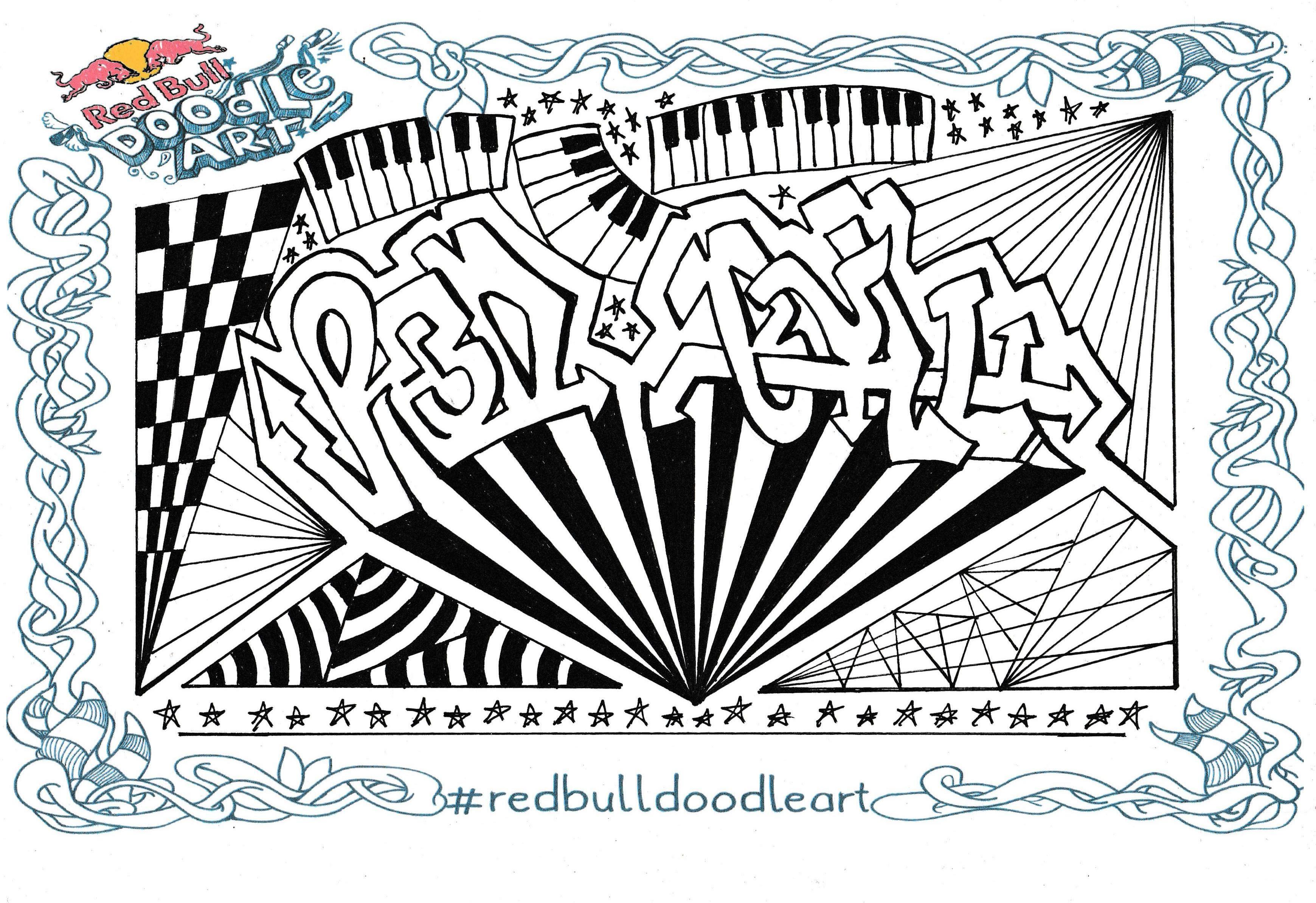 Red Bull Doodle Art