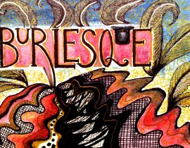 burlesque word doodle