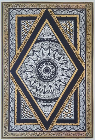 GOLDEN BLACK DETAILED MANDALA