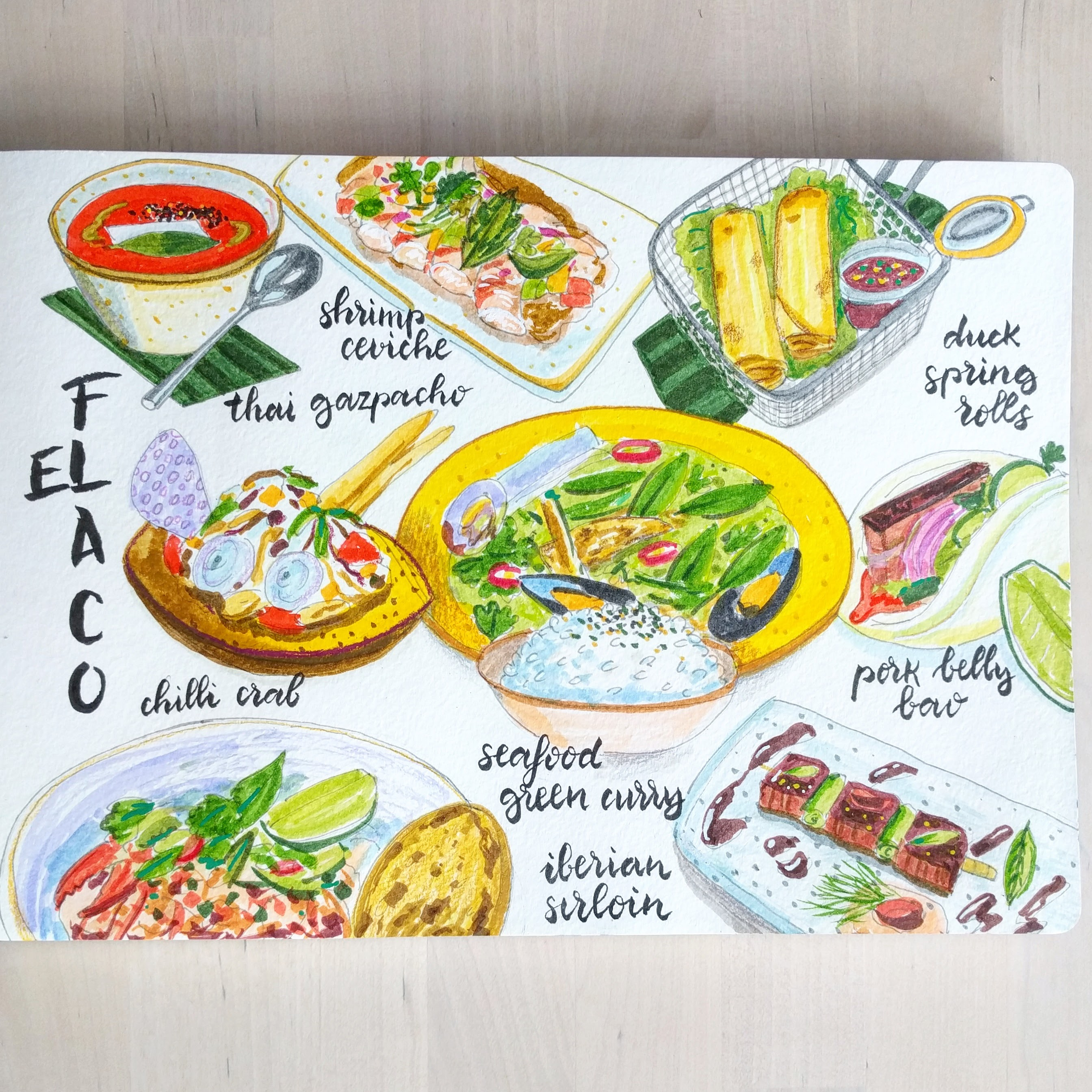 El Flaco tasting menu