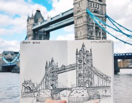 Tower Bridge Live Sketch