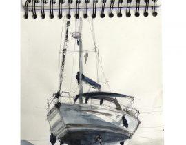 """""""Velero en el Puerto de Breskens"""" ( Boat in Breskens haven) /2017"""